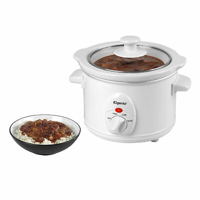 Elgento 1.5 Litre Electric Slow Cooker With Glass Lid Crock Pot Kitchen Cookware