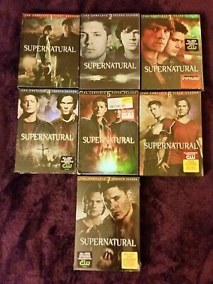 New Sealed R1 Supernatural Tv Show Dvd Box Set Lot Seasons 1 7