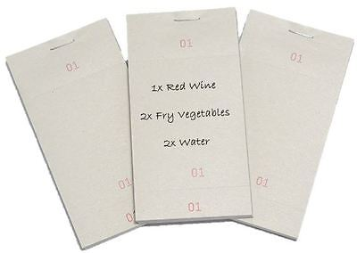 10 Single Kitchen Restaurant Pads Cafe Takeaway Pub Food Waiter Numbered Order