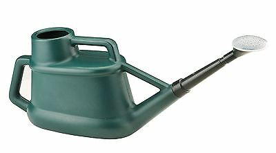 Ward 7 Litre 7L Long Reach Green Plastic Watering Can with Rose Spray Sprinkler