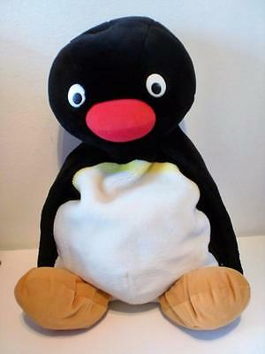 Rare Retro Pingu Penguin Hot Water Bottle Pyjama Case Plush Soft Toy Doll 1990s