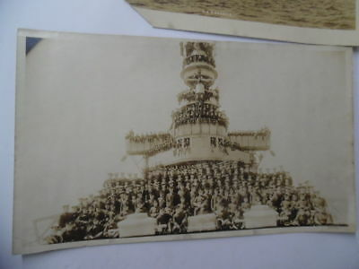 c.1907 USS ST. LOUIS C-20 US Navy Cruiser Panoramic Photo Lot of 2 O.W. Waterman