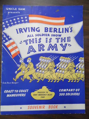 1942 Irving Berlin's THIS IS THE ARMY Musical Souvenir Book Program WWII Theater