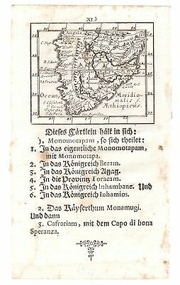 1692 J. U. Muller - SOUTH AFRICA -  Cape of Good Hope - Original miniature map
