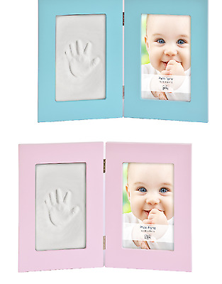 Child Baby Keepsake Hand Foot Casting Print Clay Imprint Kit Photo Display Frame