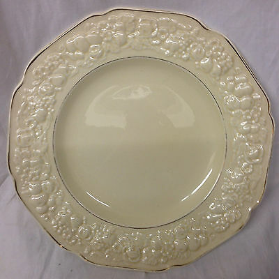 "Crown Ducal Golden Glamour Dinner Plate 9 3/4"" Florentine Shape Sand"