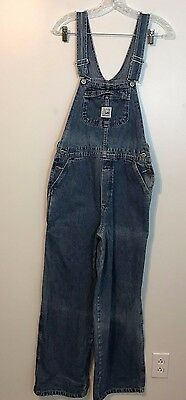 Lee Riveted Dungarees Blue Jean Bib Overalls 100% Cotton Youth Size  LGR W31 L29