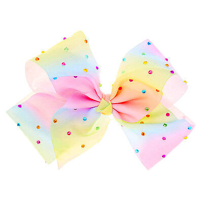 8 inch Pastel Large Hair Bow rainbow Bows DanceMoms girls accessories kids clips