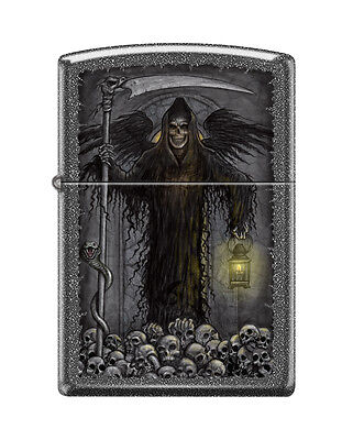 Zippo 1370, Grim Reaper-Skulls, Iron Stone Finish Lighter, Full Size
