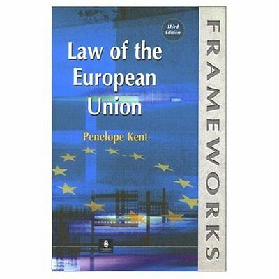 Law of the European Union by Penelope Kent New Paperback Book