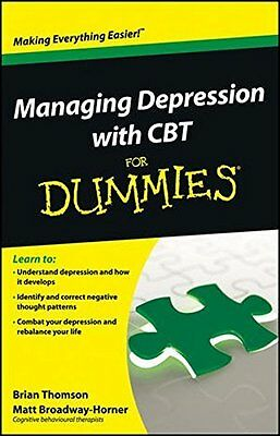 Managing Depression with CBT For Dummies by Brian Thomson New Paperback Book