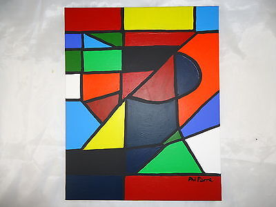 Phil Pierre - SOLIDS 016 - new original abstract acrylic painting cotton canvas