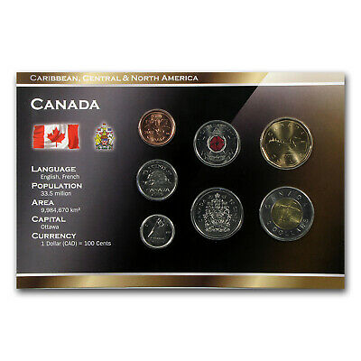2006-2012 Canada 1 Cent-2 Dollar 7-Coin Set Unc - SKU #69068