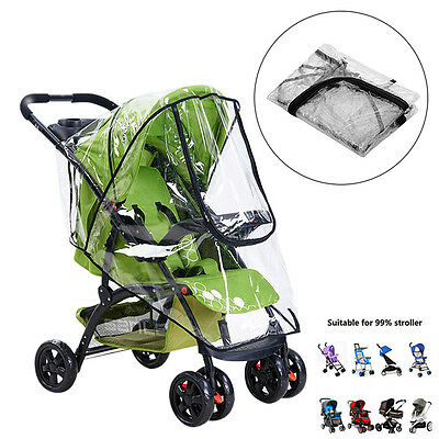 Zippper Rain Cover Raincover FOR Universal Buggy Baby Pushchair Stroller Pram UK