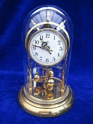 Jahresuhrenfabrik Anniversary Glass Dome Clock Self Levelling Base Restoration