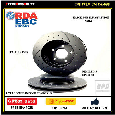 DIMPLED SLOTTED HONDA CIVIC EJ 3/96-2/99 FRONT DISC ROTORS D-262 mm