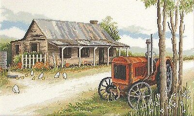 Old Tractor Cottage - Counted Cross Stitch Chart from Country Threads