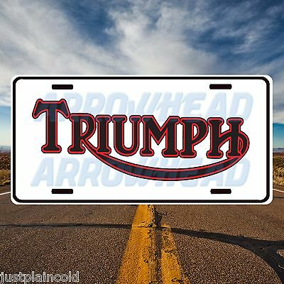 Triumph Motorcylce style License plate, auto tag