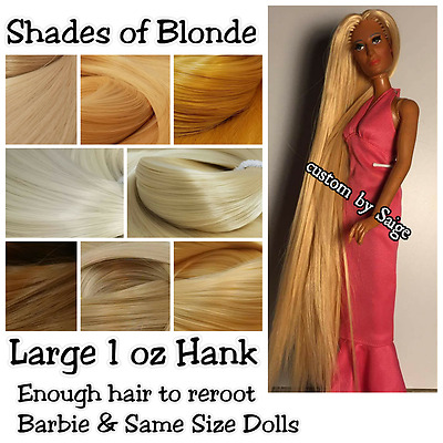 L 1 oz Shades of Blonde Nylon Reroot Hair Barbie Monster High Ever After Doll