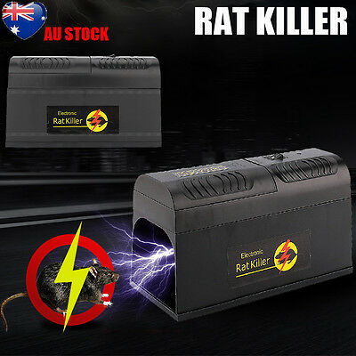 High Voltage Electronic Mice Rat Mouse Killer Rodent Repeller Electric Trap AU