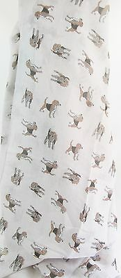 Dog Scarf -Beagles on Light Grey  Approx 180cm Long x 70cm Wide - Polyester