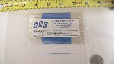 "CNC Electronics hook up wire, 30 AWG, Kynar insulation 500 pcs x 4.25"" each, nos"