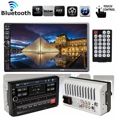 HD 7'' Autoradio Touch Bluetooth Stéréo MP3 MP5 Player AUX/GPS/USB/Remote 2DIN