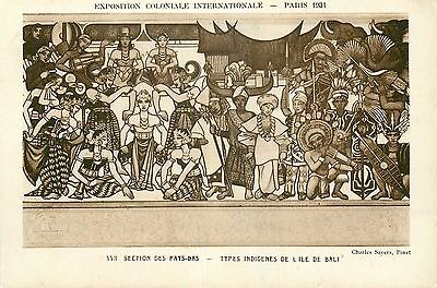 Cp Paris Exposition Coloniale 1931 Section Pays-Bas Types Indigenes