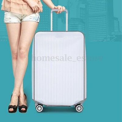 """NEW Clear PVC Transparent Travel Outdoor Luggage Protector Suitcase Covers 30"""""""