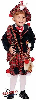 Italian Made 7Pc Boys Scottish Carnival Book Day Fancy Dress Costume Outfit 0-10