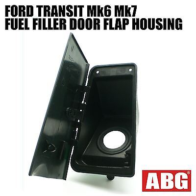 For Ford Transit Mk6 Mk7 2000 - 2013 Fuel Cap Tank Filler Pipe Door Flap Housing