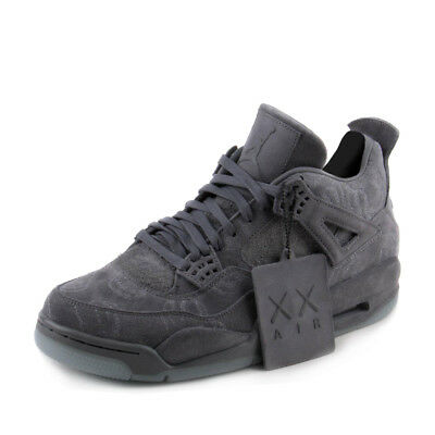 Nike Mens Air Jordan 4 Retro KAWS Cool Grey/White 930155-003