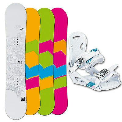 Snowboard Set ~ Ftwo Whitedeck Woman 2015 ~ 149 Cm + Elfgen Eco Bindung M