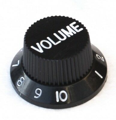 Black Volume Control Knob For Electric Guitars, Works With Fender