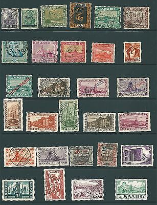 GERMANY - Vintage stamp collection from SAAR