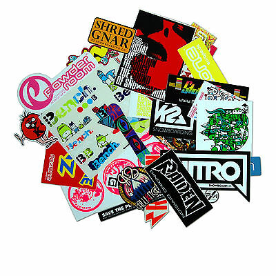 Riesiges Marken Sticker Set Ca. 55 Aufkleber Nitro Burton Bench Raiden K2 Ride