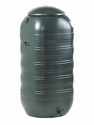 Rain Water Storage Butt Barrel Connector & Lid 250 Litre Slimline Space Saving