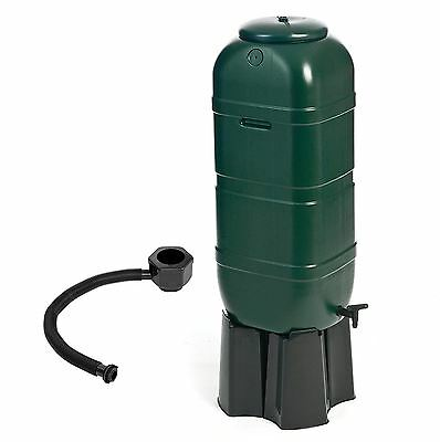 Rain Water Storage Butt Barrel Connector Lid Tap & Stand Set 100 Litre Slimline