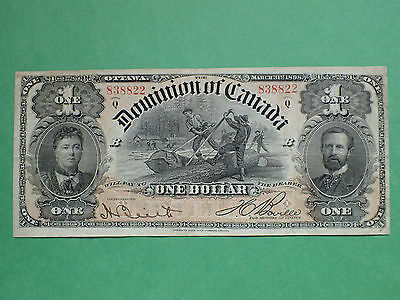 1898, 1 Dollar, Serie Q, Boville,  DC-13c, Dominion of Canada, 838822,Large note