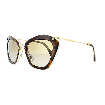 Miu Miu Sunglasses 10NS HAH1X1 Havana Cream Grey Brown Gradient