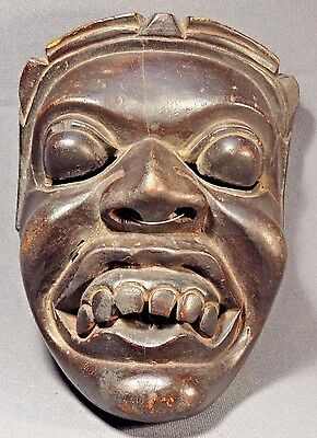 Old Javanese Topeng Hand Carved Wood Mask