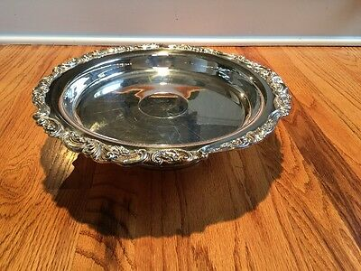 Wallace Baroque Lazy Susan Silverplate Server Pedestal Rotating 13.25""