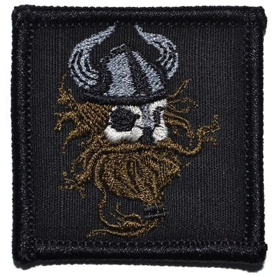 Viking Head 2x2 Military/Morale/Police Patch Hook Backing