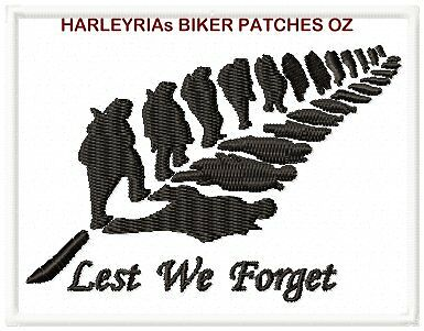 Lest We Forget Nz ......... Military Biker Patch