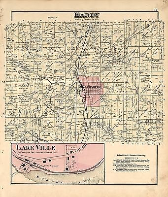 HOLMES COUNTY OHIO 1875 Atlas plat maps old GENEALOGY history Land P60