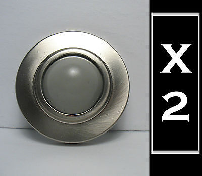 2 New Onward  Convex Wall stop stoppers, brushed nickel satin finish 2 1/2 dia