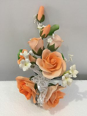 3D Wedding Roses Engagement Anniversary Cake Topper Edible Cake Decorations