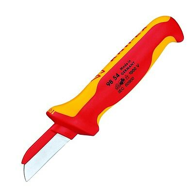 Knipex Insulated Cable Knife Surgical Steel Blade 1000V 9854SB Germany