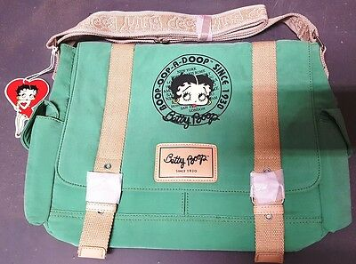 New BETTY BOOP Licensed Messenger Bag (Green color) U.S. Seller