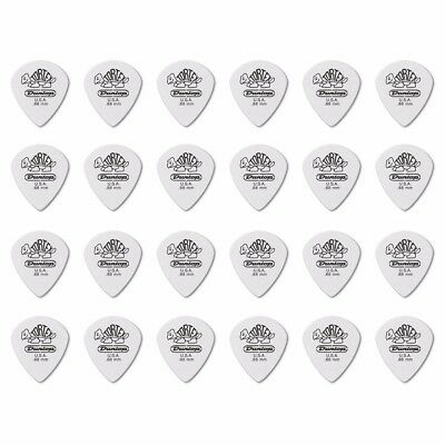 24 X Jim Dunlop Tortex Jazz 3 White 0.88mm Guitar Picks III *NEW* 478R